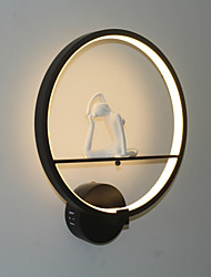cheap -Anti-Glare / Mini Style / Eye Protection Modern Contemporary / Novelty Wall Lamps & Sconces Living Room / Bedroom / Kitchen Metal Wall Light 110-120V / 220-240V 19 W / LED Integrated