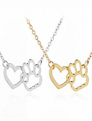 cheap -Women's Pendant Necklace Heart Simple Fashion Alloy Gold Silver 40 cm Necklace Jewelry For Daily