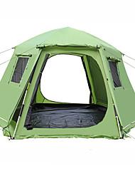 abordables -Shamocamel® 8 personne Tente automatique Extérieur Rétractable Double couche Automatique Dôme Tente de camping 1500-2000 mm pour Pique-nique Térylène Maille Polyester 368*368*190 cm