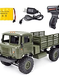 cheap -RC Car WPL B-24 GAZ-66 4 Channel 2.4G On-Road / Truck 1:16 Brushless Electric 10 km/h