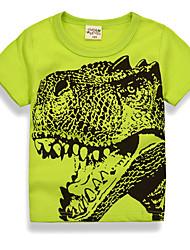 abordables -Bébé Garçon Basique Quotidien Vacances Imprimé Imprimé Manches Courtes Normal Coton Tee-shirts Vert