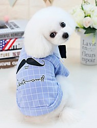 cheap -Dogs Cats Pets Shirt / T-Shirt Dog Clothes Yellow Blue Costume Dalmatian Beagle Pug Cotton / Polyester Person Cartoon Letter & Number Japan and Korea Style Fashion S M L XL XXL
