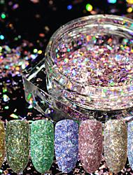 Недорогие -12шт Искусственные советы для ногтей Блеск Назначение Модный дизайн / 12 цветов маникюр Маникюр педикюр Ретро Свадебные прием / На каждый день