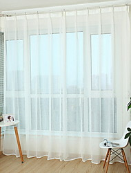 cheap -Sheer Curtains Shades Bedroom Solid Colored Cotton / Polyester Yarn Dyed