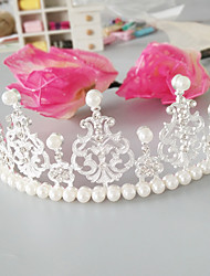cheap -Imitation Pearl / Alloy Tiaras with Faux Pearl / Crystals / Rhinestones 1pc Wedding / Special Occasion Headpiece
