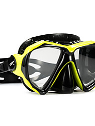 cheap -TUO Snorkel Mask Anti Fog Two-Window - Swimming PC - For Adults Yellow / Dry Top
