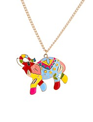 cheap -Men's Pendant Necklace Geometrical Rainbow Oversized Acrylic Metal Rainbow 65 cm Necklace Jewelry For Gift New Year