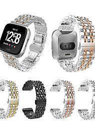 cheap -Watch Band for Fitbit Versa Fitbit Butterfly Buckle Stainless Steel Wrist Strap