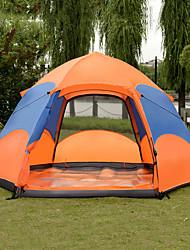 Недорогие -8 человек Автоматический тент На открытом воздухе Легкость С защитой от ветра Дожденепроницаемый Двухслойные зонты Автоматический Сферическая Палатка 1500-2000 mm для