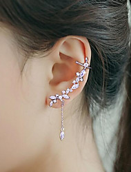 cheap -Women's Cubic Zirconia Ear Cuff Ear Climbers Fashion Silver Plated Earrings Jewelry Silver For Wedding Party 1pc