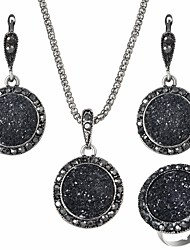 cheap -Jewelry Set Ladies European Resin Earrings Jewelry Black For Daily