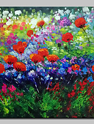 cheap -Mintura® Hand Painted Abstract Flowers Oil Painting On Canvas Modern Wall Art Pictures For Home Decoration Ready To Hang