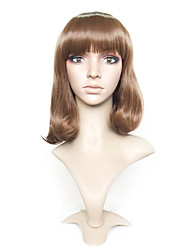 cheap -Synthetic Wig Curly Bob Layered Haircut Short Bob Wig Short Brown Synthetic Hair Women's Natural Hairline Brown