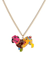 cheap -Men's Pendant Necklace Dog Animal Cartoon Sweet Acrylic Rainbow 65 cm Necklace Jewelry For Evening Party Holiday