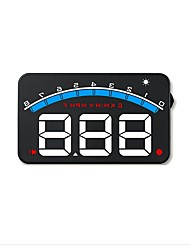 cheap -M6 3.5 inch LED Wired Head Up Display LED indicator / Plug and play / Multi-functional display for Car / Bus / Truck Driving Speed / Display KM / h MPH