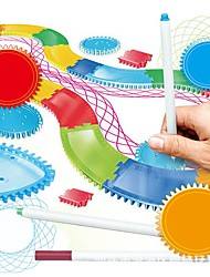 cheap -Drawing Toy Spirograph Design Set Fashion Soft Plastic Painting Relieves ADD, ADHD, Anxiety, Autism Exquisite Parent-Child Interaction Unisex for Birthday Gifts or Party Favors
