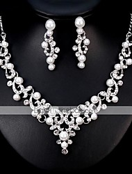cheap -Women's Jewelry Set European Fashion Pearl Earrings Jewelry Silver For Wedding Daily