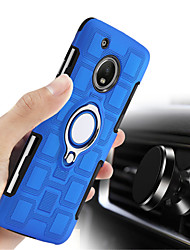 cheap -Case For Motorola Moto X4 / Moto G5s Plus / Moto G5s Shockproof / Ring Holder Back Cover Solid Colored Hard PC / Moto G5 Plus / Moto G4 Plus
