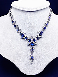 cheap -Women's Y Necklace Flower European Fashion Alloy Blue 40 cm Necklace Jewelry For Wedding Party