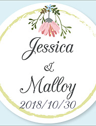 cheap -Floral / Botanicals Stickers, Labels & Tags - 48pcs Circular Stickers Envelope Sticker All Seasons