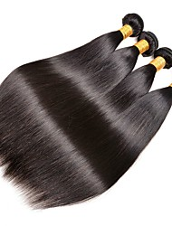 cheap -4 Bundles Peruvian Hair Straight Human Hair Natural Color Hair Weaves / Hair Bulk Human Hair Extensions Natural Color Human Hair Weaves Extention Hot Sale Human Hair Extensions / 8A