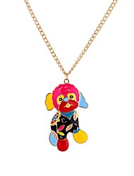 cheap -Men's Pendant Necklace Dog Rock Gothic Acrylic Rainbow 65 cm Necklace Jewelry For Prom Bar