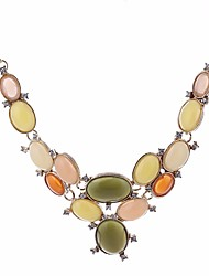 cheap -Statement Necklace Drop Sweet Fashion Stone Alloy Rainbow 46 cm Necklace Jewelry For Birthday Evening Party