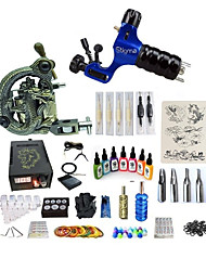 cheap -Tattoo Machine Starter Kit - 1 pcs Tattoo Machines with 7 x 15 ml tattoo inks, Variable Speeds, Professional, Adjustable LCD power supply Case Not Included 1 rotary machine liner & shader, 1 carved