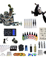 cheap -BaseKey Tattoo Machine Starter Kit - 1 pcs Tattoo Machines with 7 x 15 ml tattoo inks, Professional Level, Professional Alloy LCD power supply Case Not Included 20 W 2 alloy machine liner & shader
