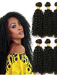 cheap -6 Bundles Brazilian Hair Curly Human Hair Human Hair Extensions Natural Color Human Hair Weaves Extention Hot Sale Human Hair Extensions / 8A