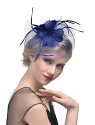 cheap -Net Fascinators / Hats / Headdress with Feather 1pc Wedding / Party / Evening Headpiece