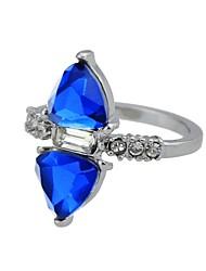 cheap -Women's Statement Ring wrap ring Silver Imitation Tourmaline Alloy Circle Basic Fashion Daily Date Jewelry Trillion Cut