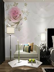 cheap -Custom pink rose 3D large wall covering mural Wallpaper Suitable Bedroom Restaurant Flower