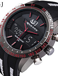 cheap -ASJ Men's Sport Watch Fashion Watch Digital Watch Japanese Digital Quilted PU Leather Black 30 m Water Resistant / Waterproof Alarm Chronograph Analog - Digital White Red Blue / Stainless Steel