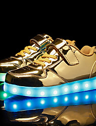 cheap -Boys' / Girls' LED Shoes PU Sneakers Kid's / Little Kids(4-7ys) / Big Kids(7years +) LED Gold / Silver / Dusty Rose Spring
