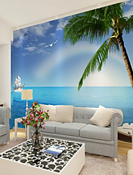 cheap -Mural Canvas Wall Covering - Adhesive required Botanical Art Deco 3D