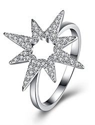 cheap -Band Ring Cubic Zirconia Silver S925 Sterling Silver Star North Star Ladies Fashion 8 9 / Women's