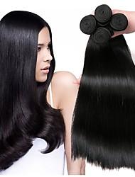 Недорогие -4 Связки Малазийские волосы Прямой Натуральные волосы 200 g Накладки из натуральных волос Естественный цвет Ткет человеческих волос Удлинитель Горячая распродажа Расширения человеческих волос / 8A