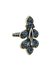 cheap -Women's Statement Ring Silver Imitation Tourmaline Alloy Circle Basic Fashion Daily Date Jewelry