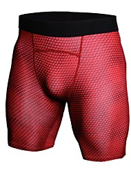 cheap -Men's Compression Shorts Athletic 1pc Shorts Compression Clothing Briefs Spandex Sport Gym Workout Fitness Exercise Lightweight Fast Dry Anatomic Design Plus Size White Black Red Camouflage Camo
