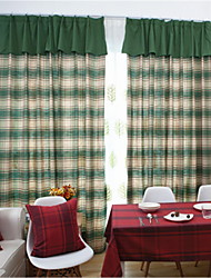 cheap -Sheer Curtains Shades Living Room Floral / Contemporary Cotton / Polyester Printed