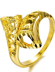 cheap -Women's Band Ring wrap ring Gold Gold Plated Geometric Ladies Fashion Party Gift Jewelry Geometrical