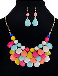 cheap -Jewelry Set Drop Statement Ladies Vintage Party Bohemian Boho Earrings Jewelry Rainbow For Party / Necklace