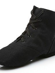cheap -Men's Dance Shoes Canvas Jazz Shoes Splicing Flat / Sneaker Flat Heel Customizable Black / Indoor