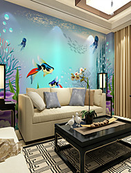 cheap -Custom Cartoon Hand-Painted Fantasy Underwater World 3D Large Wall Covering Mural Wallpaper Suitable Playground Restaurant Chilren