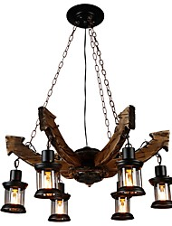 cheap -JLYLITE 6-Light 82 cm Mini Style Chandelier Metal Glass Industrial Painted Finishes Rustic / Lodge / Artistic 110-120V / 220-240V