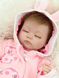 cheap -NPKCOLLECTION NPK DOLL Reborn Doll Girl Doll Baby Girl 18 inch Full Body Silicone Silicone - Newborn lifelike Cute Hand Made Child Safe Non Toxic Kid's Unisex / Girls' Toy Gift / Natural Skin Tone