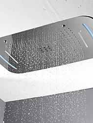 cheap -710x430 bathroom LED shower head/SUS304/3 function rainfall waterfall curtainfall /color change by touch panel