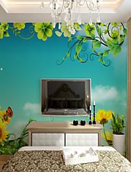 cheap -3D Custom Fantasy Garden Cartoon Large Wall Covering Mural Wallpaper Fit Bedroom Kitchen Children