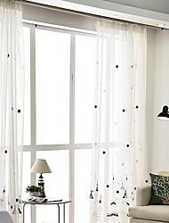 cheap -Sheer Curtains Shades Bedroom Cartoon Cotton / Polyester Printed